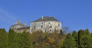 Paredes da fortaleza acima da coroa das árvores Fotografia de Stock