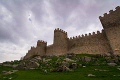 Paredes da fortaleza de Avila Imagens de Stock Royalty Free