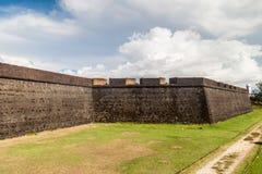 Paredes da fortaleza do St Joseph Sao Jose em Macapa, Braz fotografia de stock royalty free
