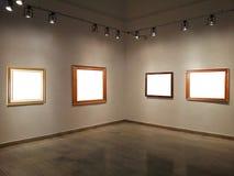Paredes da galeria com quadros vazios Imagem de Stock Royalty Free