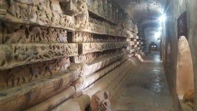 Paredes da maravilha no templo em Myanmar Imagens de Stock