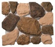 Paredes de alvenaria da pedra e do tijolo Foto de Stock Royalty Free