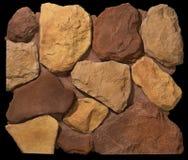 Paredes de alvenaria da pedra e do tijolo Fotografia de Stock