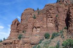 Paredes de barranco de la piedra arenisca roja Imagen de archivo