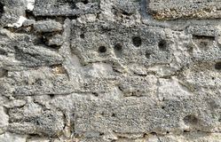Paredes de Castillo de San Marcos en la Florida Imágenes de archivo libres de regalías