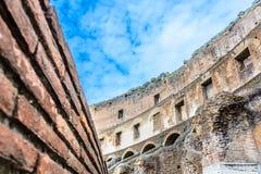 Paredes de Colosseum na cidade eterno Roma Itália Imagens de Stock