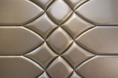Paredes de couro douradas luxuosos Fotos de Stock