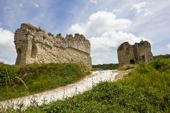 Paredes de defensa del castillo de Gaillard imagenes de archivo