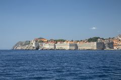 Paredes de Dubrovnik imágenes de archivo libres de regalías