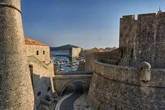 Paredes de Dubrovnik Fotos de archivo