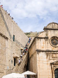Paredes de Dubrovnik viejo Foto de archivo libre de regalías