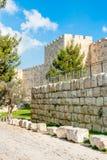 Paredes de Jerusalén Fotos de archivo libres de regalías