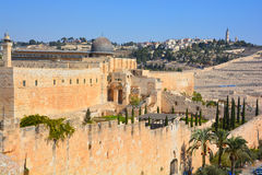 Paredes de Jerusalem Imagem de Stock Royalty Free