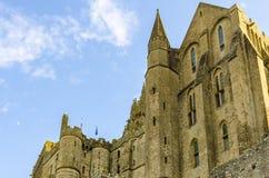 Paredes de la abadía del Saint-Michel Foto de archivo libre de regalías