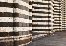 Paredes de la catedral de Orvieto Fotos de archivo libres de regalías