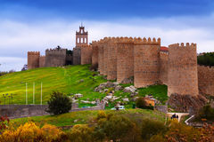 Paredes de la ciudad Ávila, España Fotografía de archivo libre de regalías