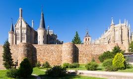 Paredes de la ciudad Astorga, España Imagenes de archivo