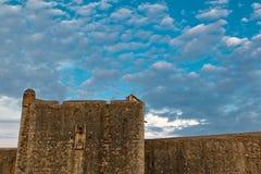 Paredes de la ciudad de Dubrovnik Fotos de archivo libres de regalías