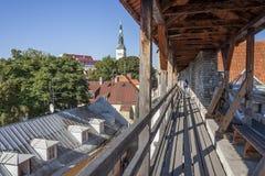 Paredes de la ciudad de Tallinn, Estonia Fotografía de archivo