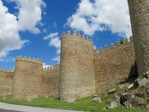 Paredes de la ciudad del castillo de Ávila, España Fotografía de archivo libre de regalías