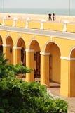Paredes de la ciudad en Cartagena, Colombia Foto de archivo libre de regalías