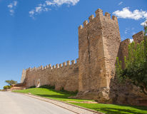 Paredes de la ciudad medieval de Montblanc Fotografía de archivo