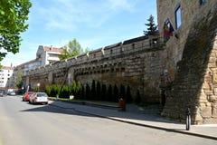 Paredes de la ciudad medieval en Cluj-Napoca, Transilvania Foto de archivo libre de regalías