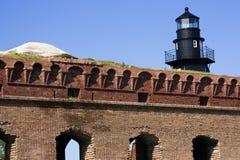 Paredes de la fortaleza Jefferson foto de archivo libre de regalías