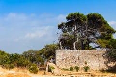 Paredes de la fortaleza de Rethymno Fotografía de archivo libre de regalías