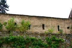 Paredes de la iglesia fortificada medieval Cristian, Transilvania Foto de archivo libre de regalías