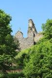 Paredes de la piedra de las muchachas del castillo Foto de archivo libre de regalías