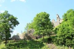 Paredes de la piedra de las muchachas del castillo Imagen de archivo
