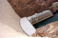 Paredes de la presa de Hoover Fotografía de archivo libre de regalías