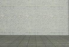 Paredes de ladrillo blancas Foto de archivo