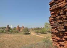 Paredes de ladrillo de la torre de Bagan Pagoda de las edades foto de archivo libre de regalías