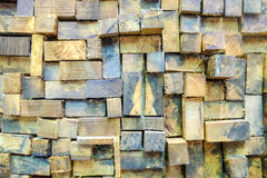 Paredes de madeira Fotografia de Stock