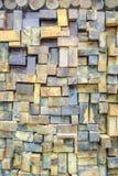 Paredes de madeira Fotos de Stock