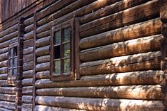 Paredes de madera imagen de archivo libre de regalías