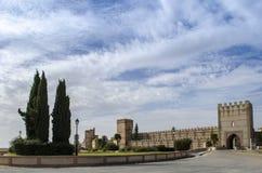 Paredes de Madrigal de las Altas Torres en Ávila imagen de archivo libre de regalías