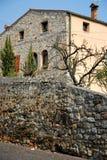 Paredes de pedra antigas de uma casa em ArquàPetrarca Vêneto Itália Imagens de Stock