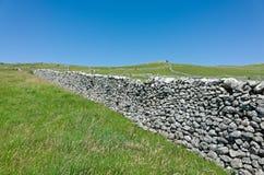 Paredes de pedra secas - vales de Yorkshire, Inglaterra Foto de Stock Royalty Free