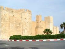 Paredes de piedra de la fortaleza y del x28; ribat& x29; en la ciudad de Monastir Fotografía de archivo libre de regalías