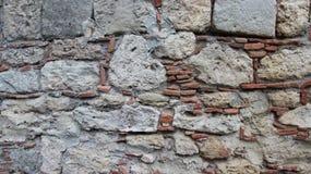Paredes de piedra del sitio histórico fotografía de archivo