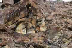 Paredes de piedra grandes foto de archivo