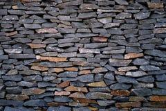 Paredes de piedra oscuras Imagen de archivo libre de regalías