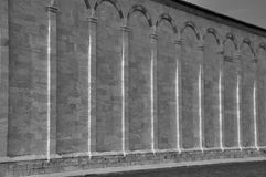 Paredes de Pisa no dei Miracoli da praça, Itália Imagens de Stock