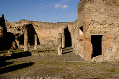Paredes de Pompeya fotografía de archivo libre de regalías