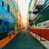 Paredes de San Francisco da cidade Foto de Stock