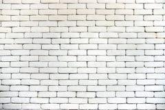 Paredes de tijolo brancas do vintage com sulcos pretos fotos de stock royalty free