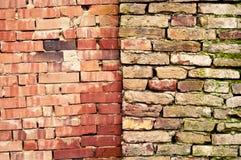 Paredes de tijolo gêmeas Fotos de Stock